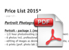 Price List of Junge Fotografie
